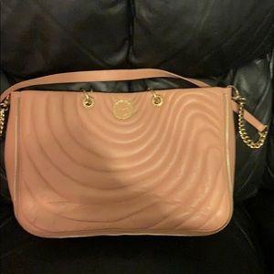 Leather pink tote or strap Henri Bender bag